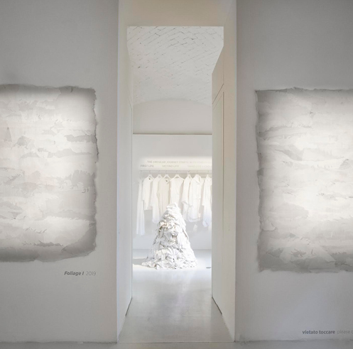 Eileen Fisher says <em>Waste No More, </em>through an exhibition  at Rosanna Orlandi