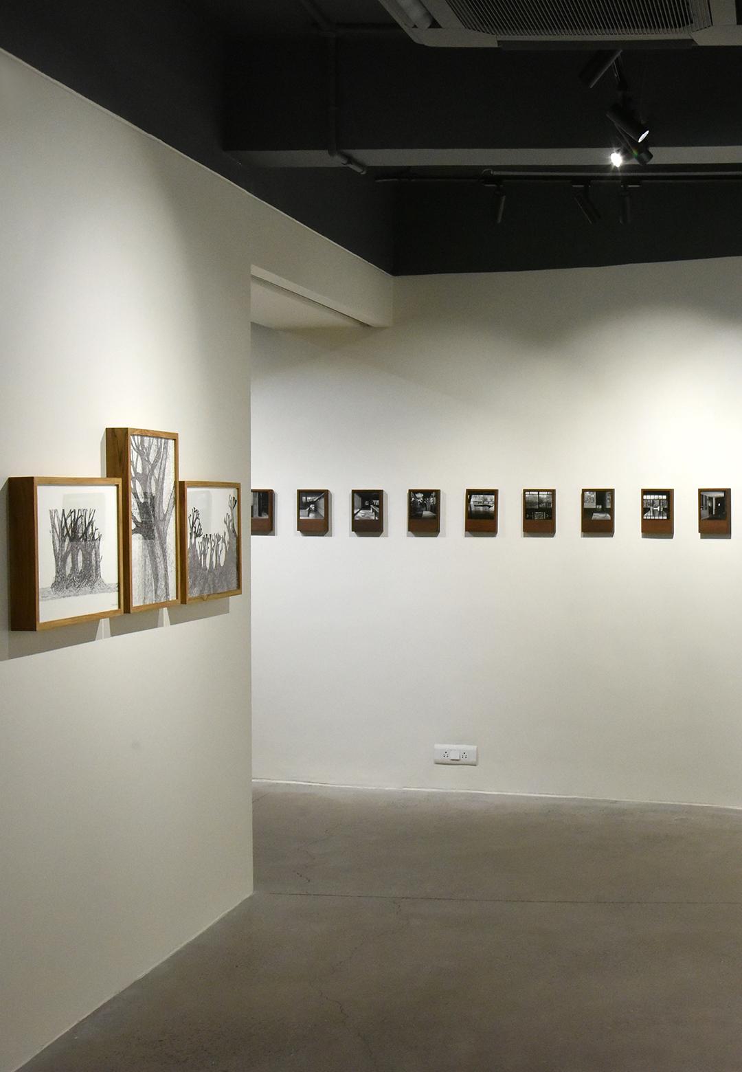 Installation view at India Art Fair 2019|BV Box| Balkrishna Doshi| Lida Shihoko| STIR