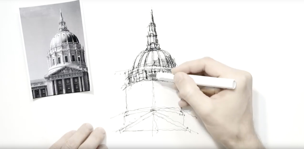 Sketching Domes – a drawing tutorial by Dan Hogman