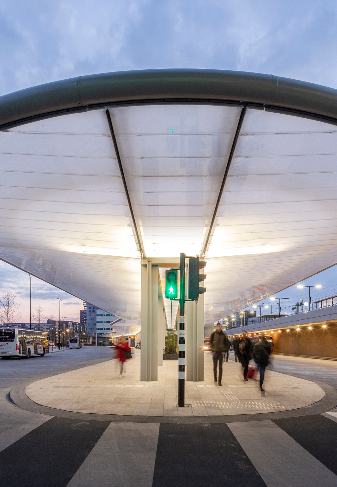 The Tilburg bus station designed by Cepezed is a sustainable facility that generates its own energy| Tilburg Bus Station| Cepezed| STIR