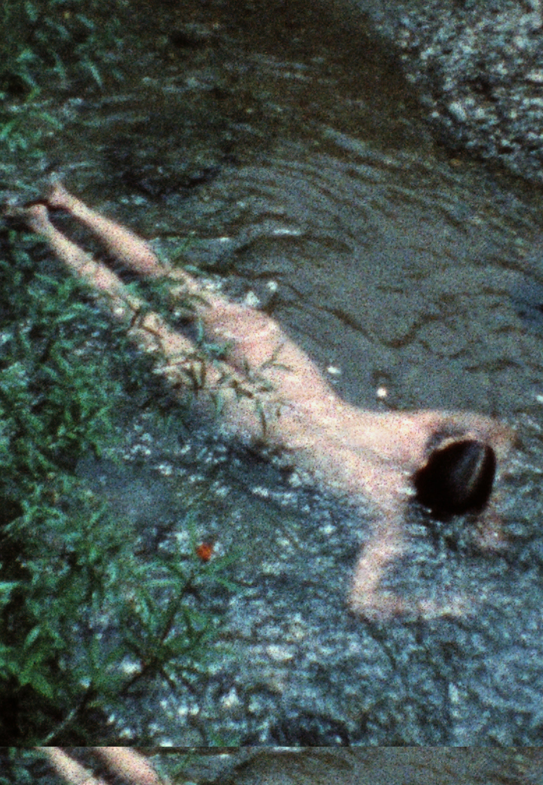 Ana Mendieta, Creek, 1974, Super-8mm film transferred to high-definition digital media, colour, silent. Running time: 3:11 minutes | Earthbound | Ana Mendieta | STIR