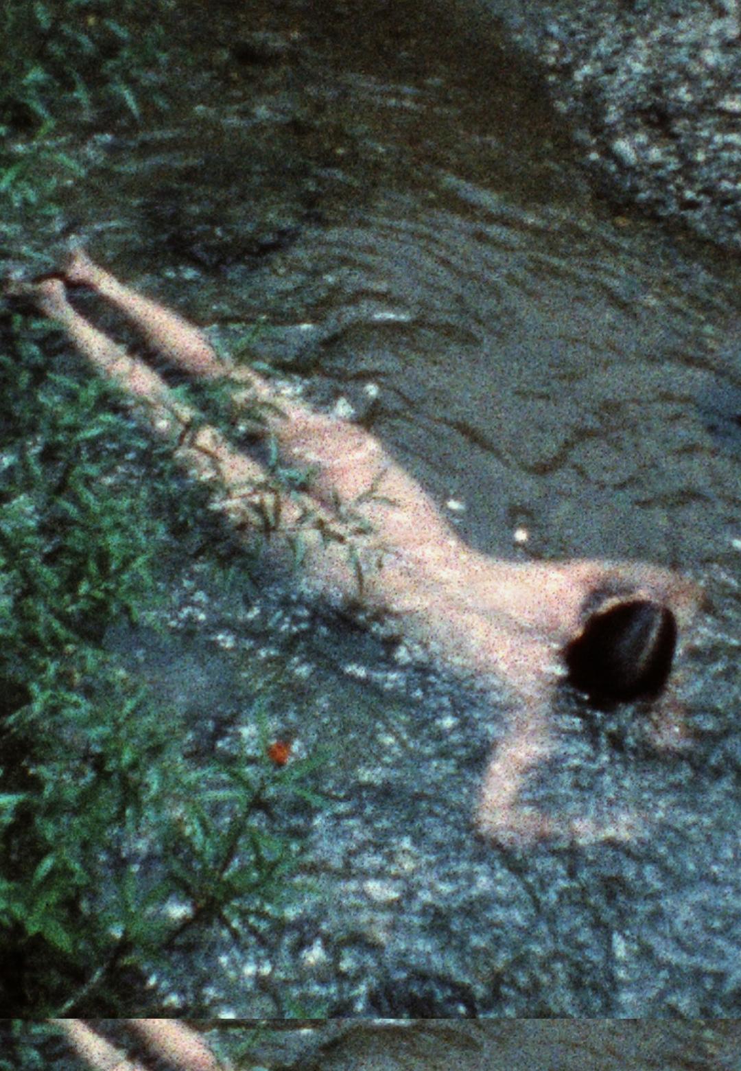 Ana Mendieta, Creek, 1974, Super-8mm film transferred to high-definition digital media, colour, silent. Running time: 3:11 minutes | Earthbound | Ana Mendieta | STIR