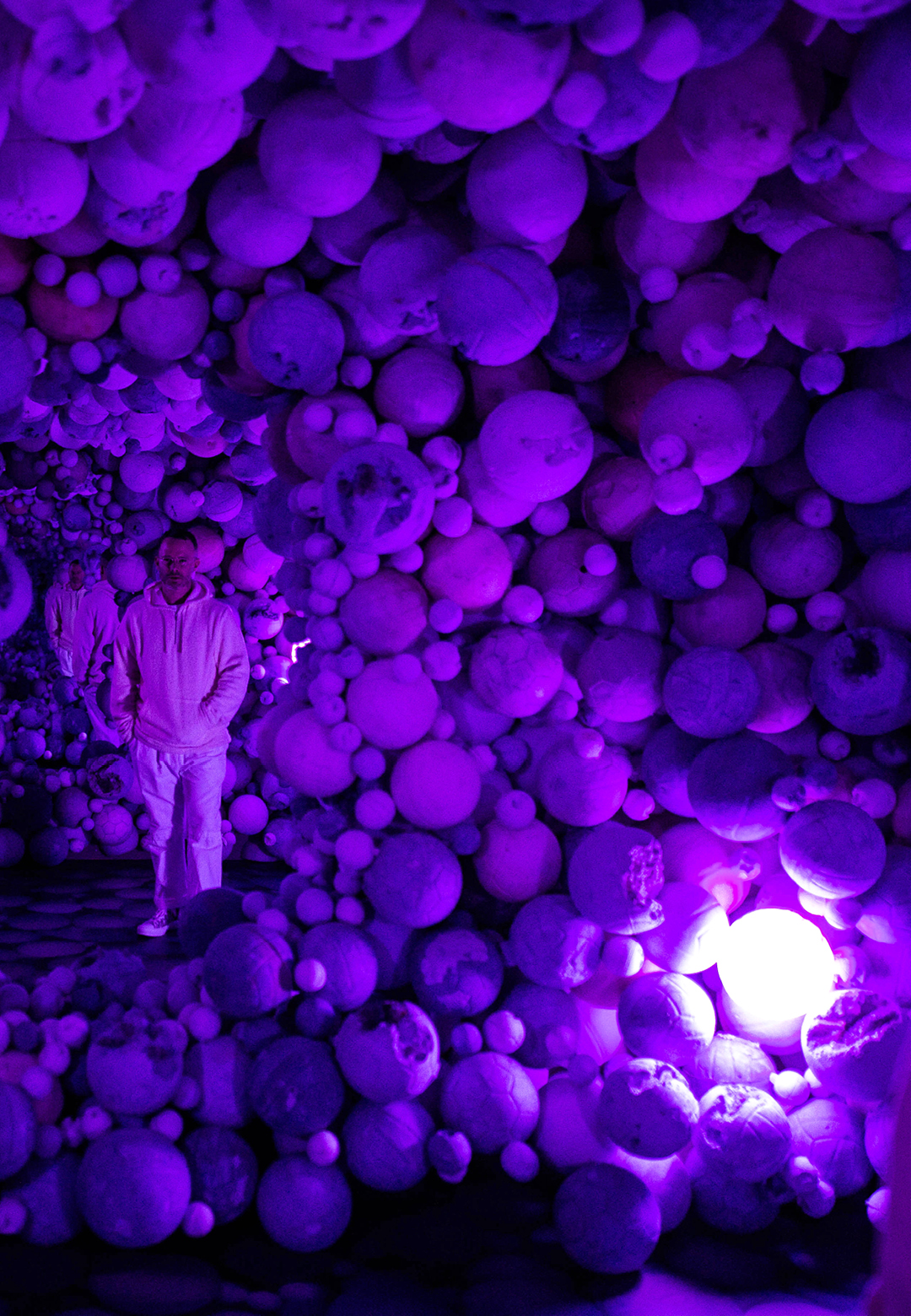 Daniel Arsham, Amethyst Ball Cavern, Connecting Time, MOCO Museum | Connecting Time | Daniel Arsham | STIR