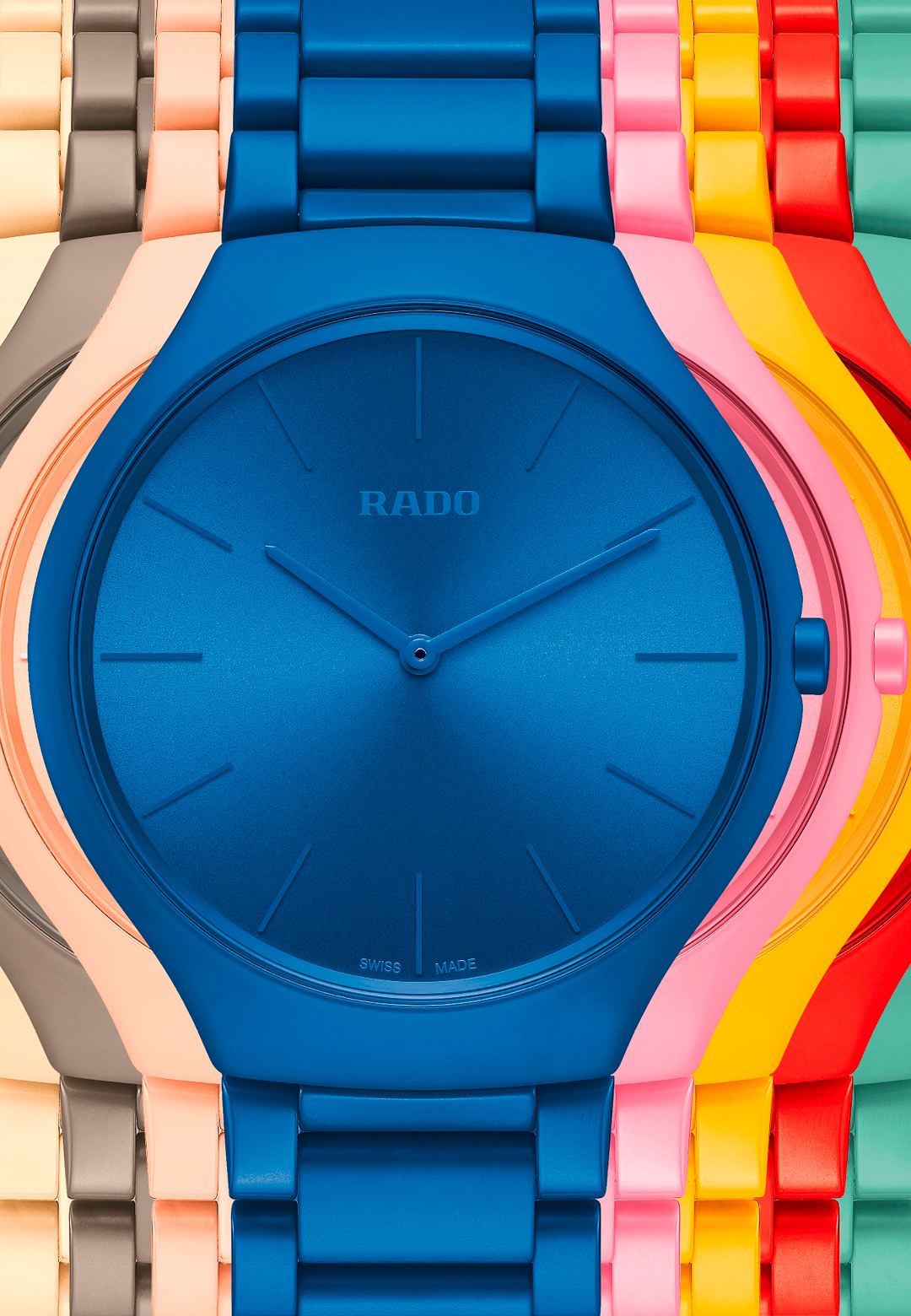 The new RADO True Thinline Les CouleursTM Le Corbusier collection inspired by Le Corbusier's architectural colours; the modernist visionary, Le Corbusier | RADO True Thinline Les CouleursTM Le Corbusier | STIR
