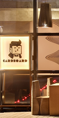 Cardboard café by Mumbai-based architecture firm Nudes