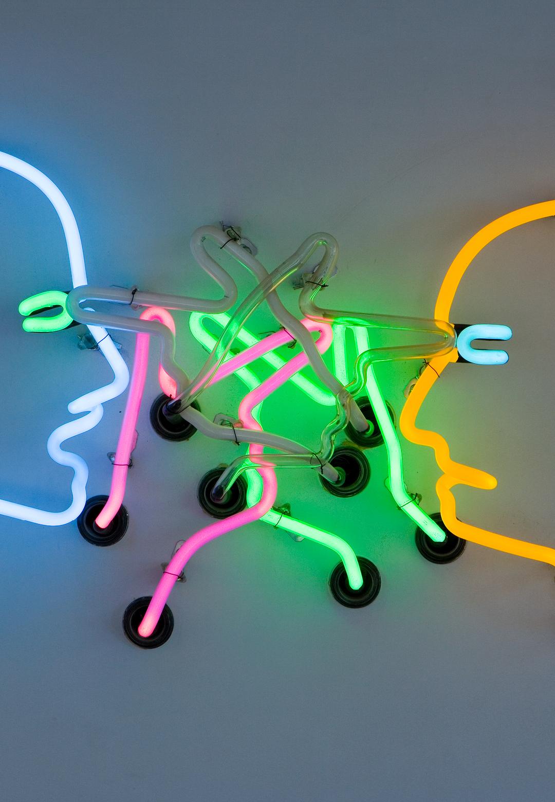 Bruce Nauman, Double Poke in the Eye II, 1985, neon, 61 x 91 x 24,5 cm, Sammlung /collection Froehlich, Stuttgart | Rodin/Nauman | Auguste Rodin | Bruce Nauman | STIRworld