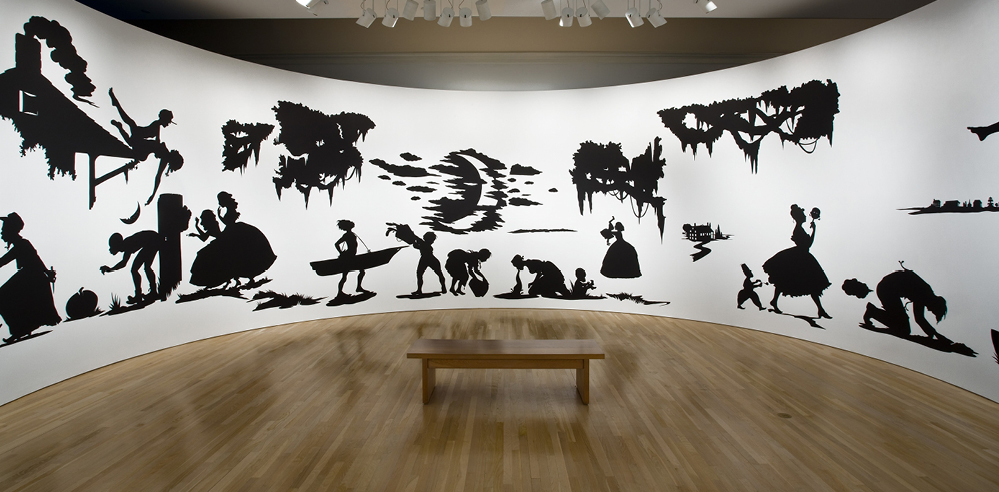 Artist Kara Walker's shadow-play tells tales at the Tate Modern, London