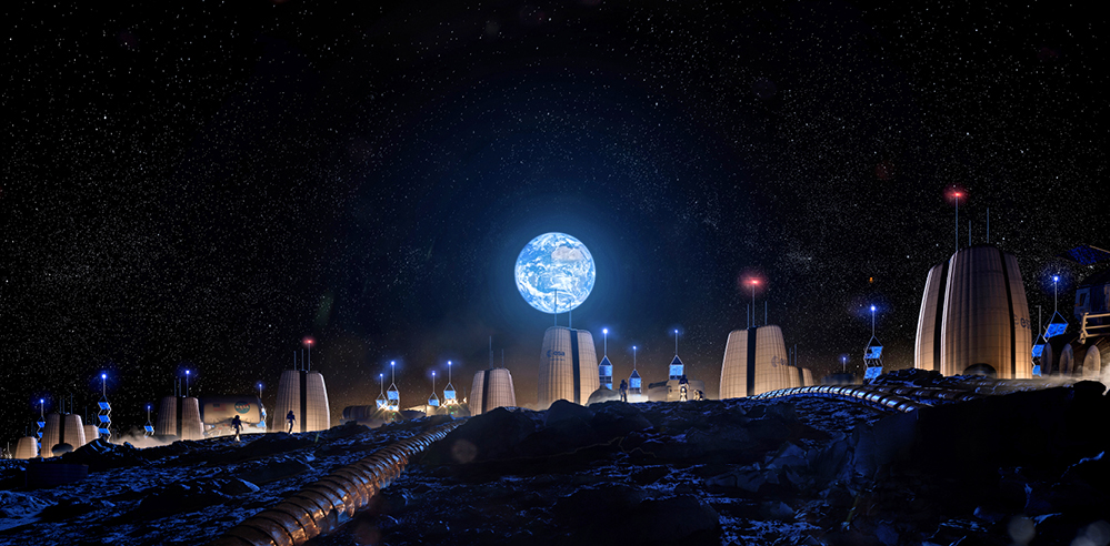 Architecture firm SOM designs 'Moon Village', a full-time lunar habitat