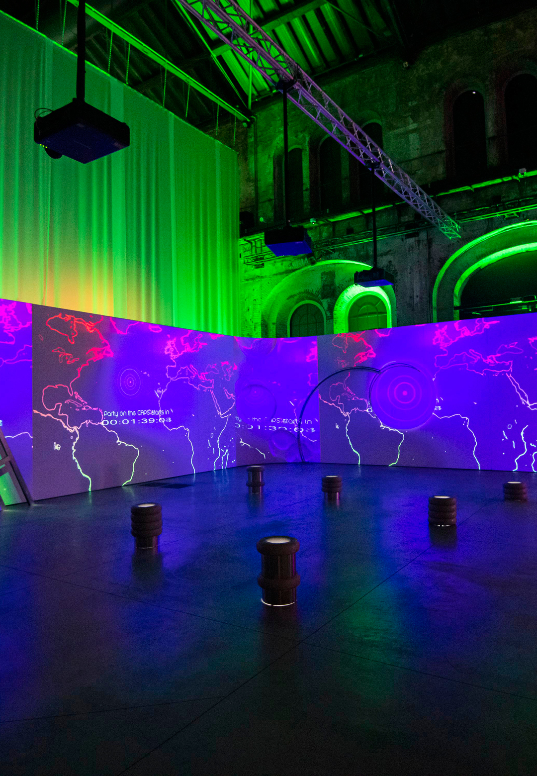 Biennale de l'Image en Mouvement, The Sound of Screens Imploding, Meriem Bennani, Party on the CAPS, Installation view at OGR – Turin | The Biennale of Moving Images | STIRworld