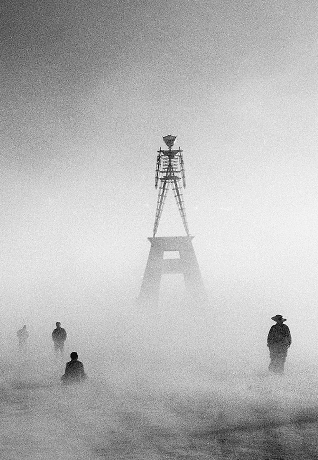 Stewart Harvey, Figures with Dusty Man, 2001   No Spectators: The Art of Burning Man   Oakland Museum of California   STIRworld