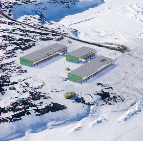 An elevated new Scott Base for Antarctica New Zealand