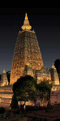 The site of Buddha's enlightenment shines bright with <em>Lighting the Mahabodhi</em>