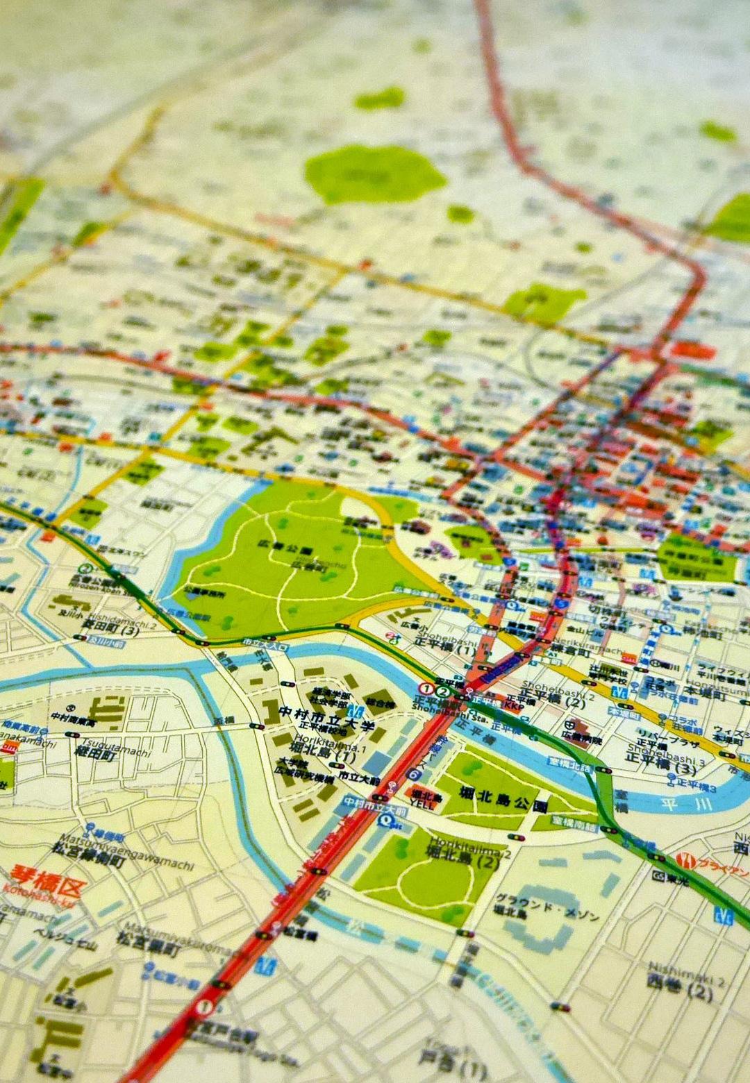 Takayuki Imaizumi, Imaginary Map, Nagomuru City, 2018 (detail) | Museum of Tokyo | MOT Satellite 2019: Wandering, Mapping | Takayuki Imaizumi | STIRworld