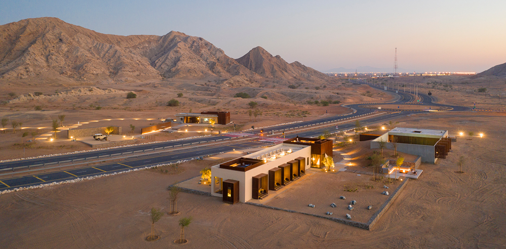 Al Faya Lodge - designed for the Sharjah desert by London-based Anarchitect