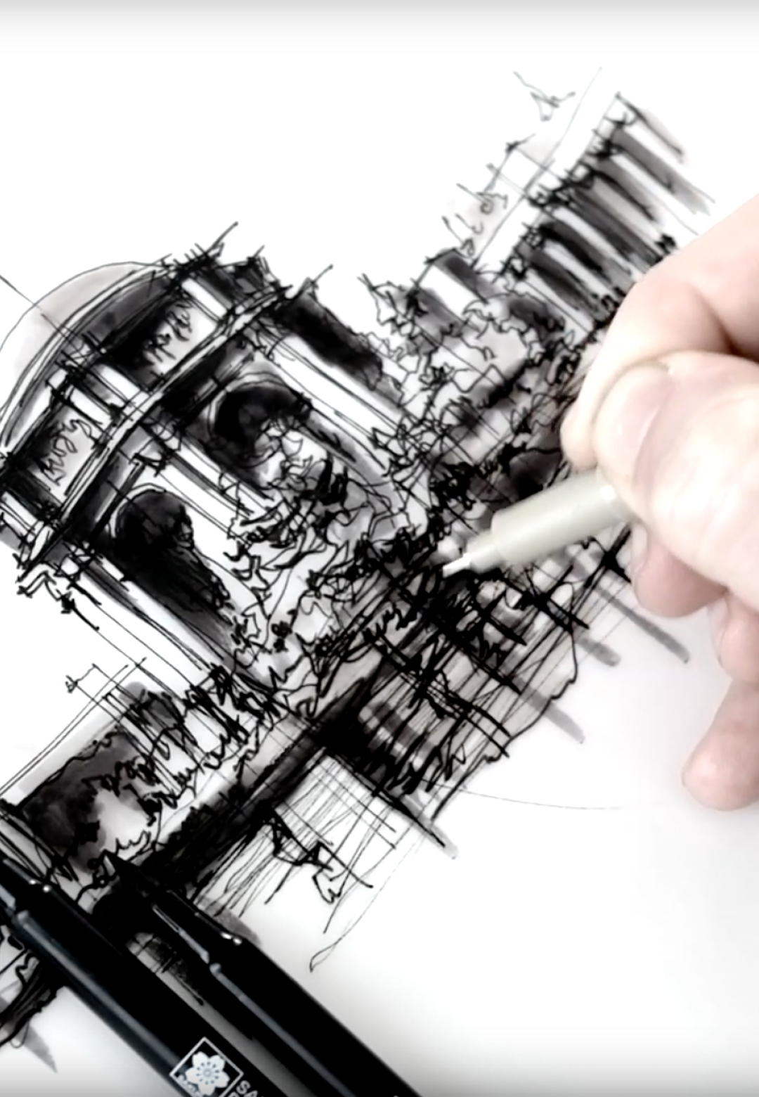 Sketching the Palace of Fine Arts, San Francisco | Drawing Tutorial | Dan Hogman | STIRworld