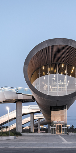 Copenhagen's new transport hub, Køge Nord Station, is a developmental landmark