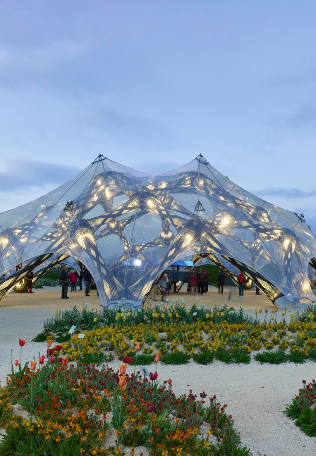BUGA Fibre Pavilion |BUGA Fibre Pavilion 2019 |Pavilions created by University of Stuttgart | STIRworld