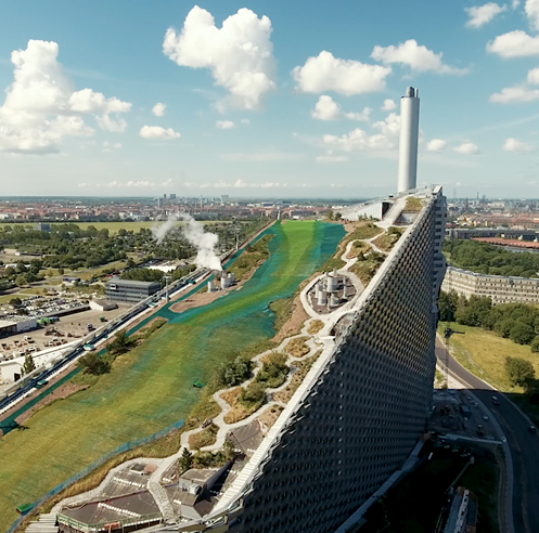 BIG's artificial ski slope atop a waste-to-energy plant opens to public in Copenhagen
