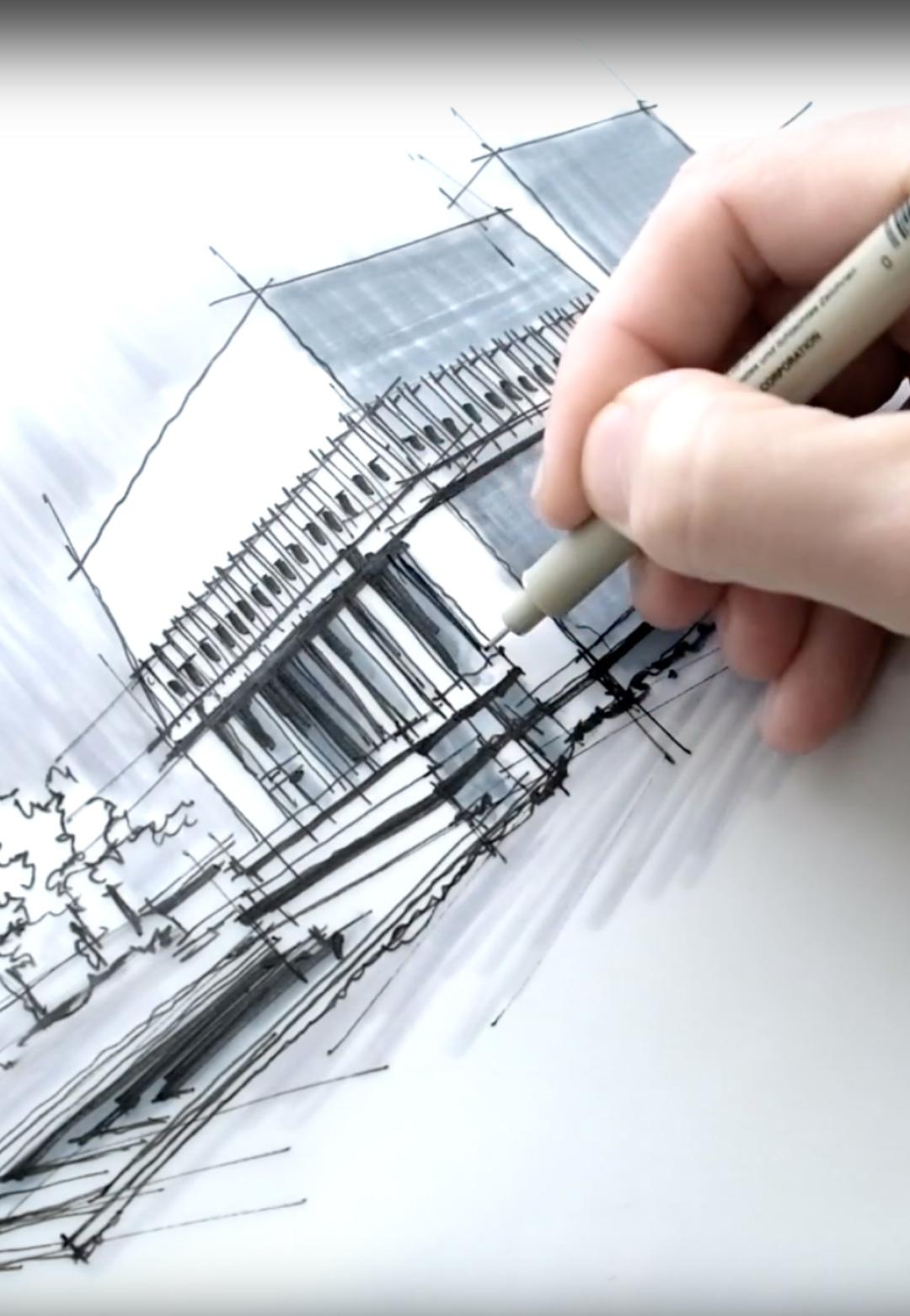 Sketching FLW's Hollyhock House | Dan Hogman | STIRworld