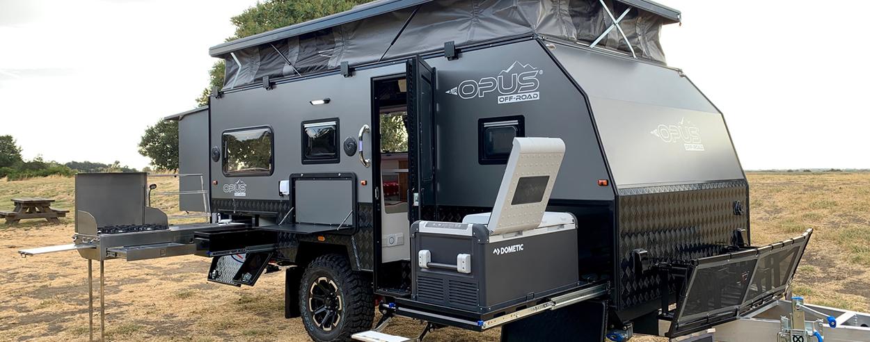 The OP 15' hybrid caravan is a compact, luxurious house on wheels