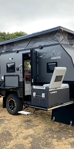 The OP 15' hybrid caravan is a compact, luxurious house on wheels