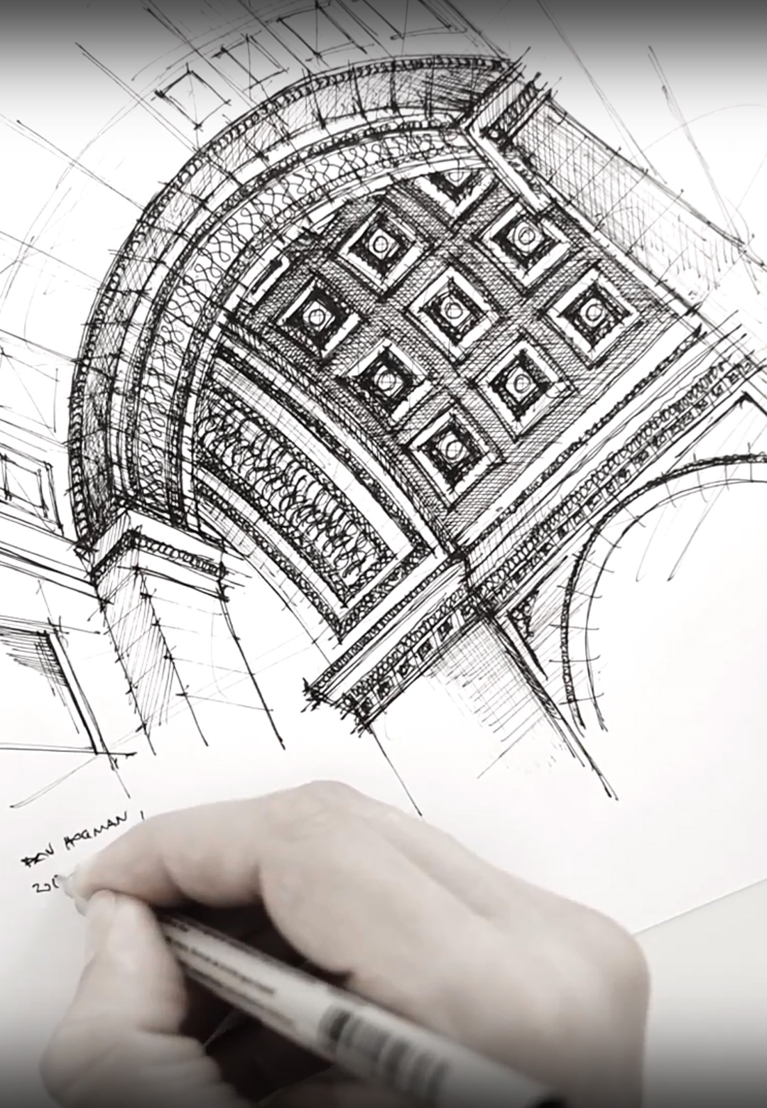 Sketching Arc de Triomphe | Dan Hogman | STIRworld