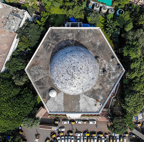 Lunar Dome art installation atop Nehru Planetarium in Mumbai pays tribute to ISRO