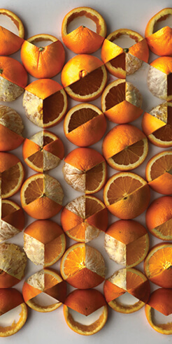 Adam Hillman uses objects like fruits and chocolates to create his art