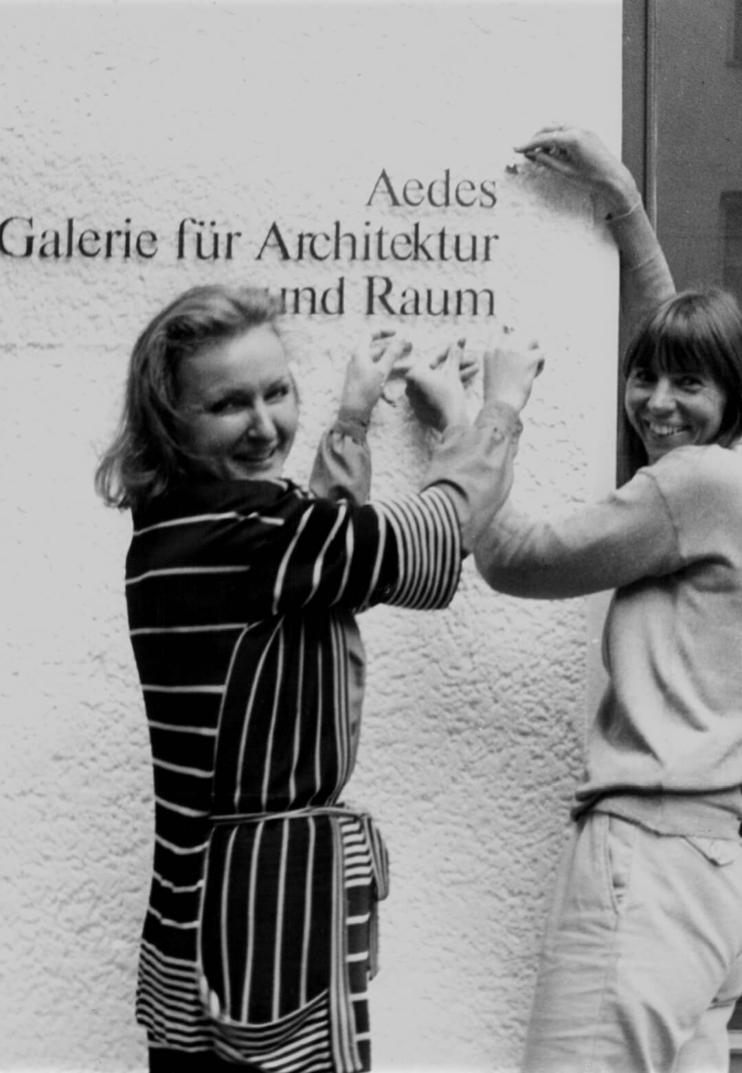 Kristin Feireiss and Helga Retzer in 1980, the year Aedes Architecture Forum was founded | Established in 1980, the Aedes Architecture Forum, Berlin, an independent institution and exhibition space for architecture gallery in Europe | STIRworld