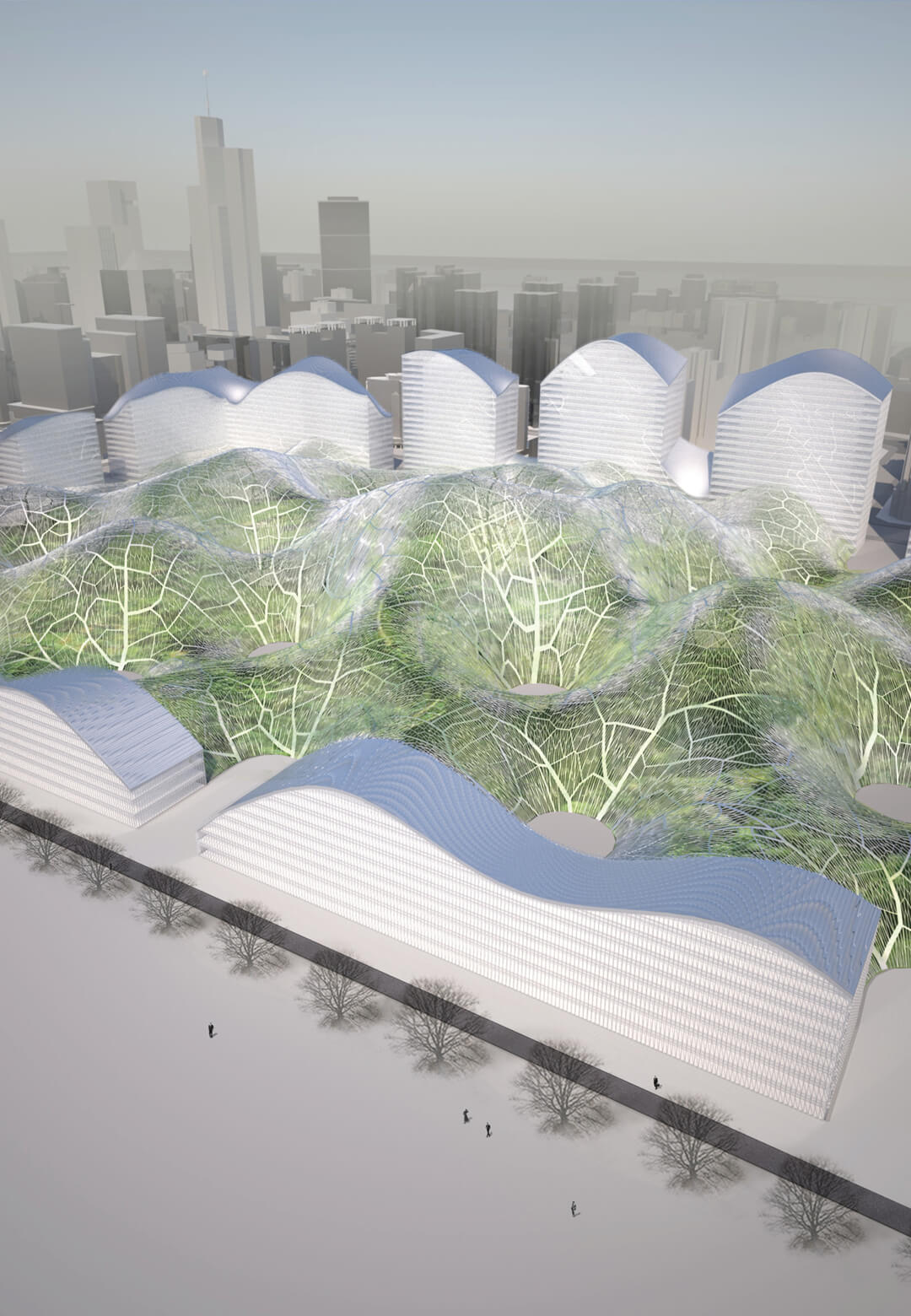 The Bubbles Project proposes the construction of enclosed parks that house botanical gardens with clean air | Bubbles Project| Orproject | STIRworld