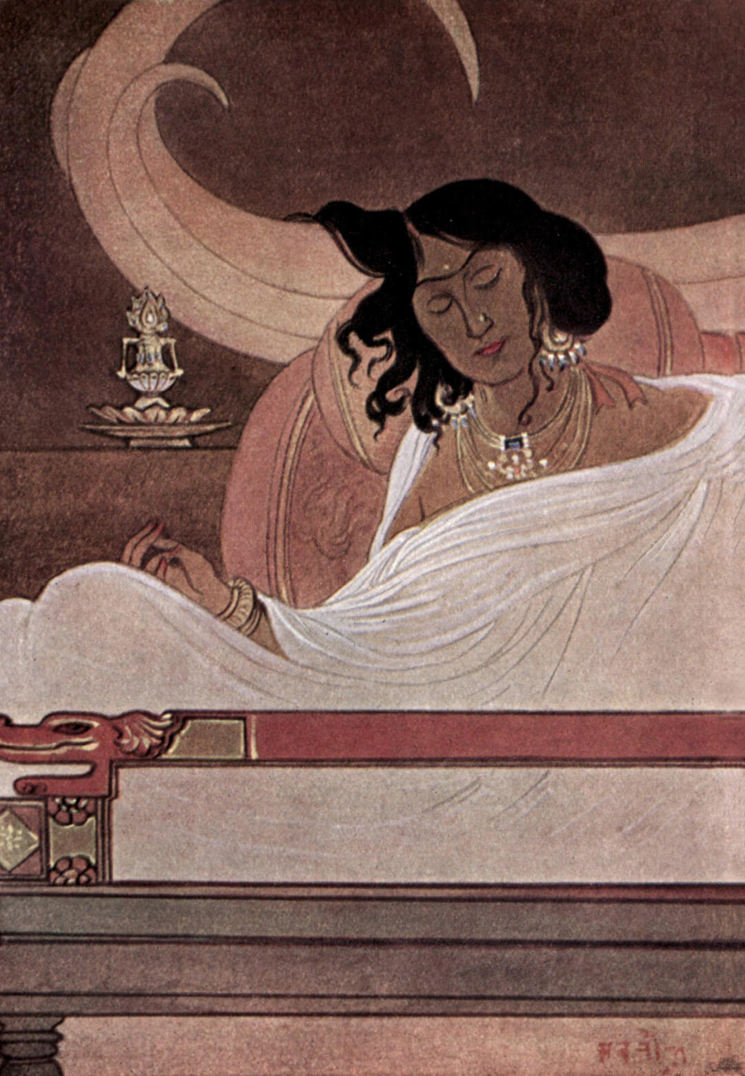 'The Bodhisattva's Tusks', 1914, as found in 'Myths of the Hindus and Buddhists' by Sister Nivedita and Ananda Kentish Coomaraswamy | The Bodhisattva's Tusks | Abanindranath Tagore | STIRworld