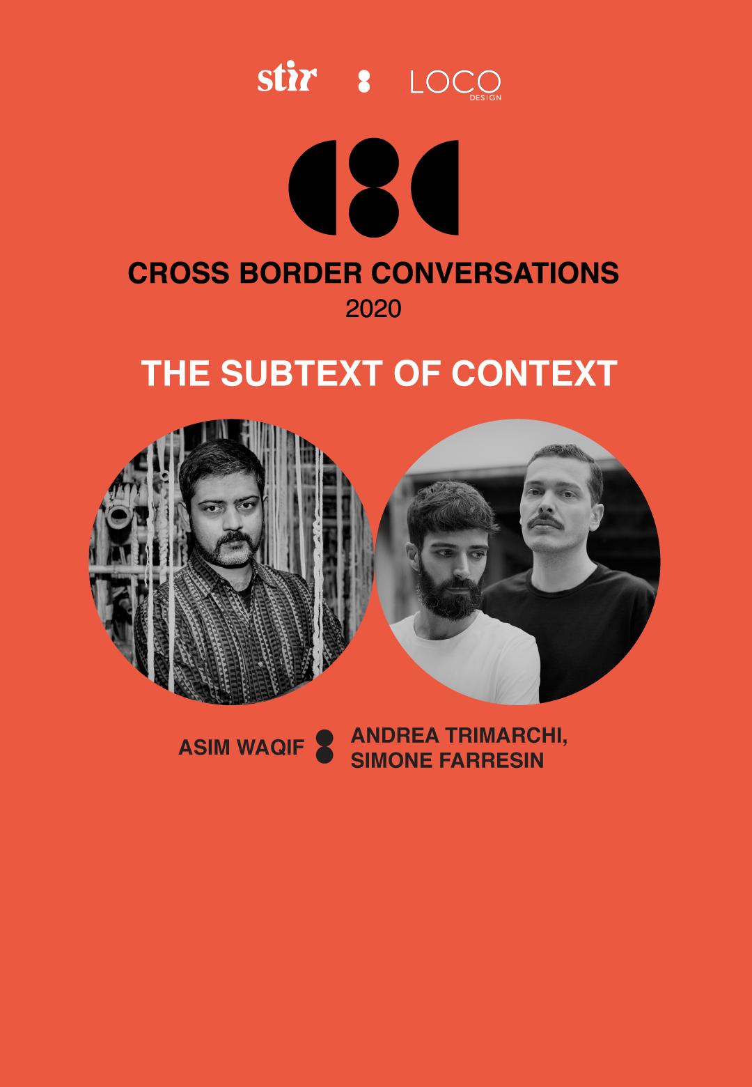 Cross Border Conversations | Studio Formafantasma X Asim Waqif | STIR X LOCO Design
