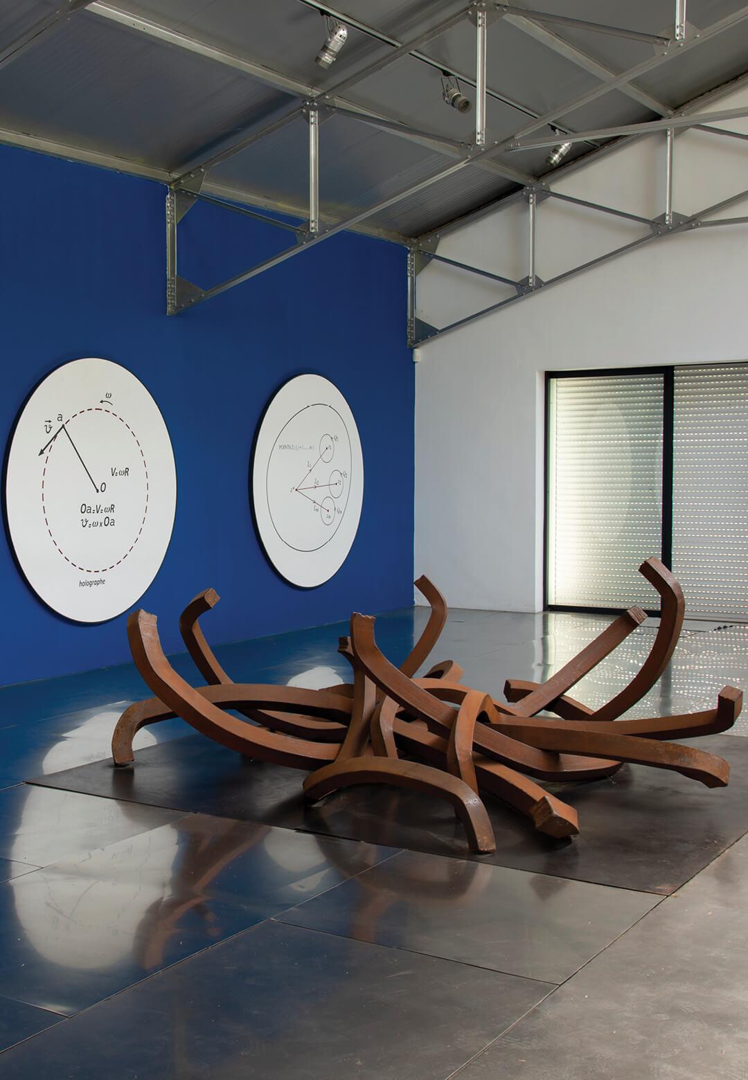 Images of work by Bernar Venet installed at the artist's home in Le Muy, France | Bernar Venet | STIRworld