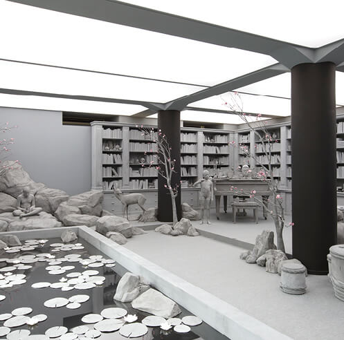 Hans Op de Beeck creates achromatic immersive works