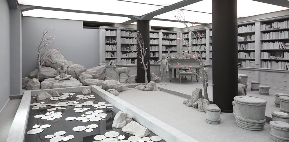 Hans Op de Beeck creates achromatic immersive works