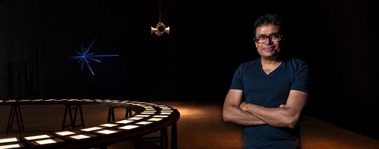 Jitish Kallat showcases 'Terranum Nuncius', an immersive solo exhibit in Mumbai