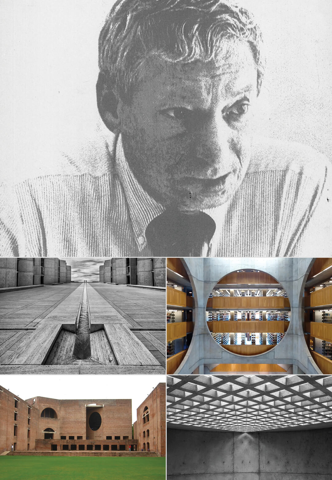 Louis Isadore Kahn (February 20, 1901 – March 17, 1974), a champion of modernist architecture globally   Louis Kahn Tribute, The Notebooks and Drawings of Louis I. Kahn   Louis Kahn, Designers and Books  STIRworld
