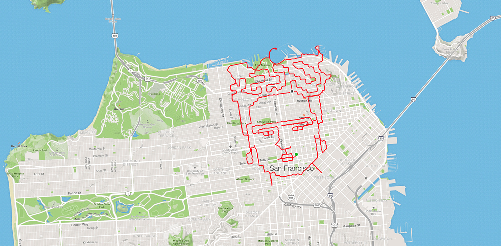 Lenny Maughan marathons his way through San Francisco to create art