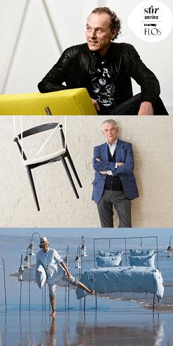 Miss You, Milan: Richard Hutten, Giulio Cappellini and Valerie Barkowski in reflection