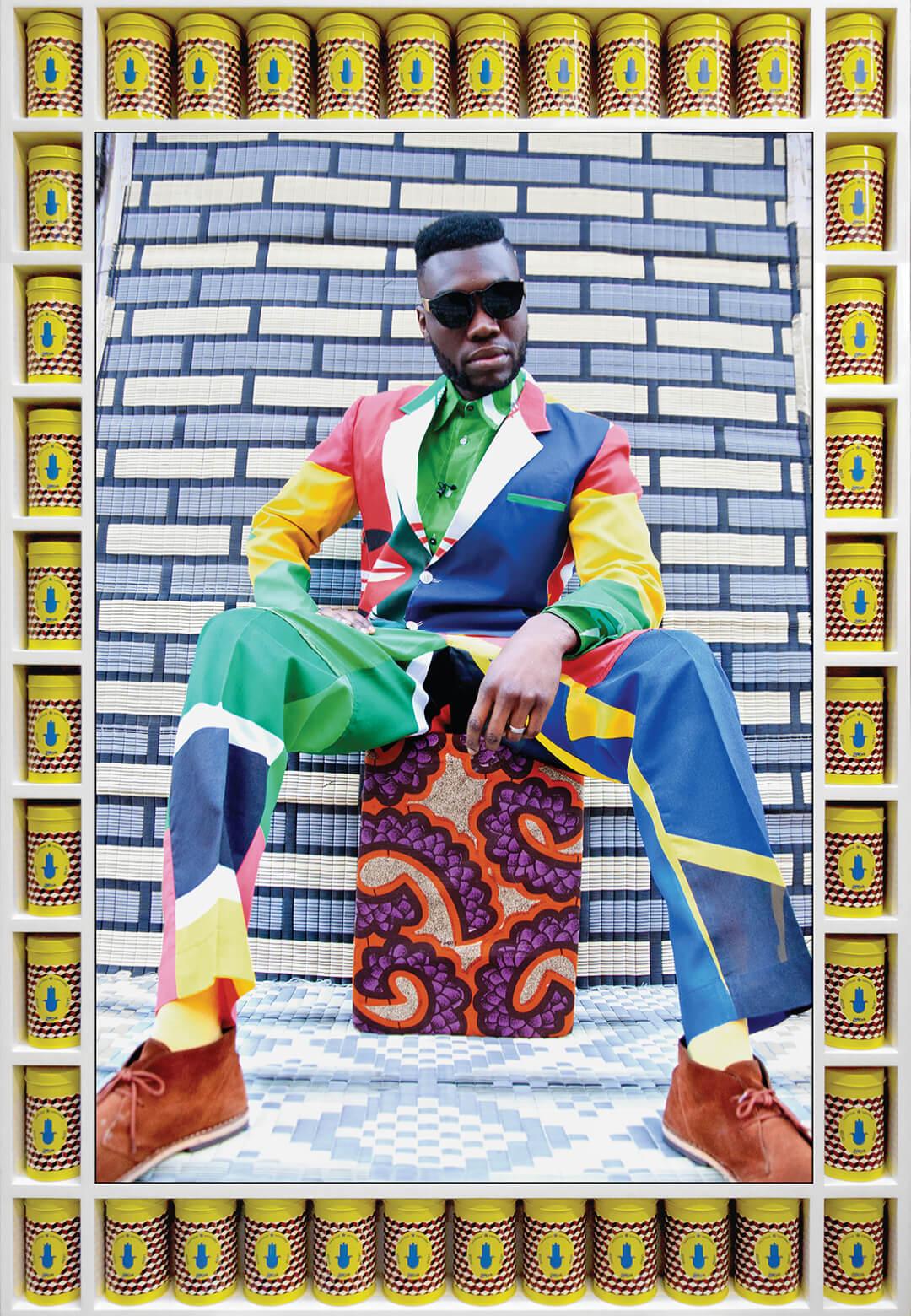 Afrikan boy sittin | My Rockstars | Hassan Hajjaj | STIRworld