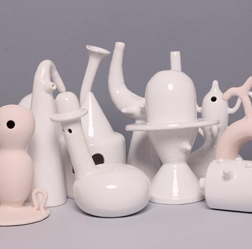 Paradiso Dreams showcases surrealistic ceramic sculptures by artist Matteo Cibic