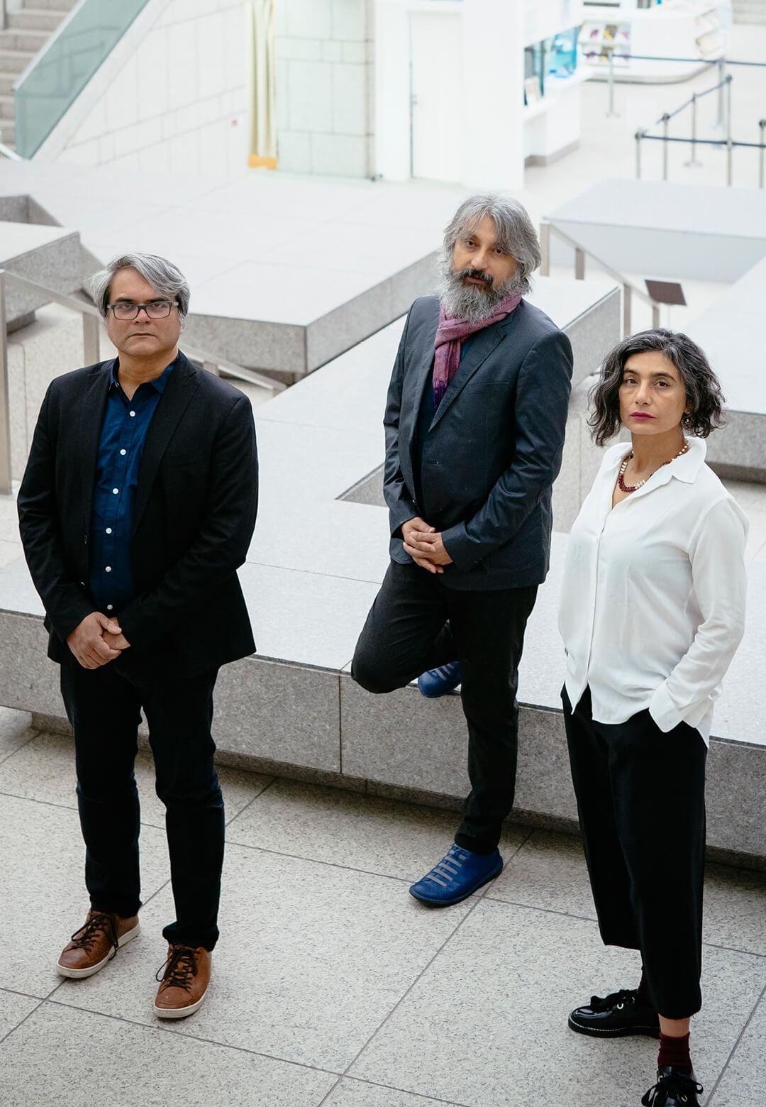 L to R: Shuddhabrata Sengupta, Jeebesh Bagchi and Monica Narula of Raqs Media Collective | Yokohama Triennale | STIRworld