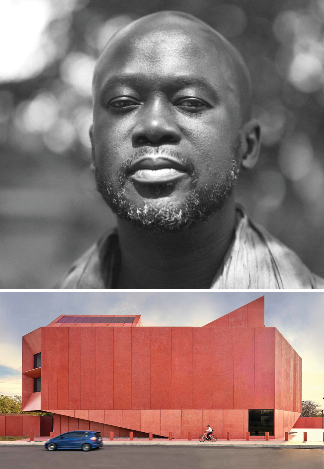 Left: Sir David Adjaye, Right: Ruby City Hall, Texas, USA | David Adjaye | Adjaye Associates | STIRworld