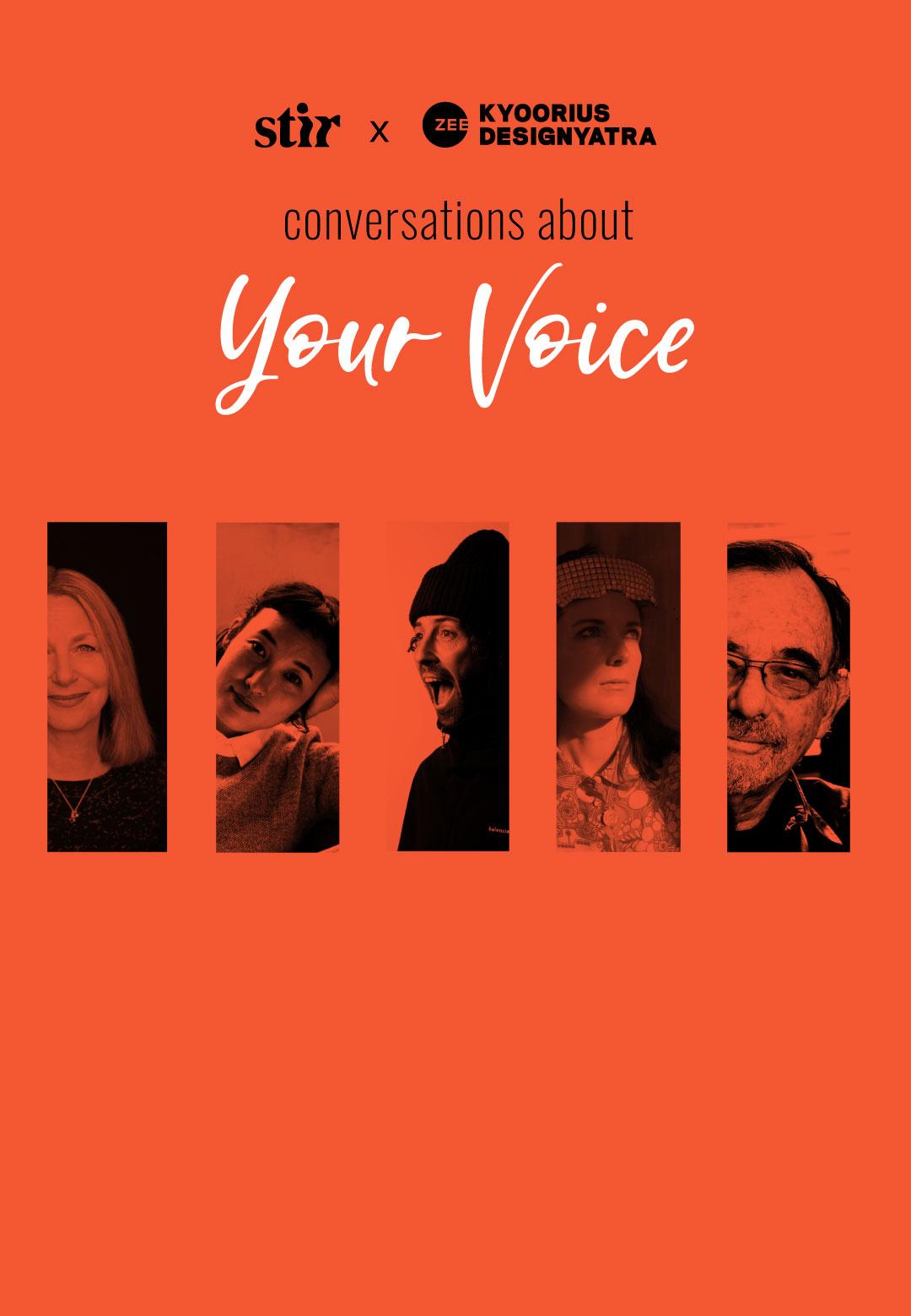 STIR X Kyoorius Designyatra | Conversations About Your Voice | STIRworld