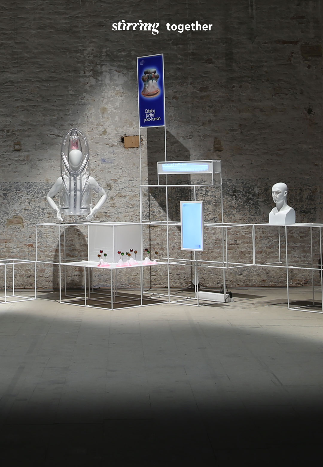 Catalog for the Post-Human by Tim Parsons and Jessica Charlesworth is a satirical installation that delves into the future of work and human enhancement | Catalog for the Post-Human | Parsons & Charlesworth | STIRworld