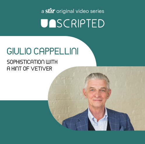 UNSCRIPTED with Giulio Cappellini: Sophistication with a tinge of vetiver