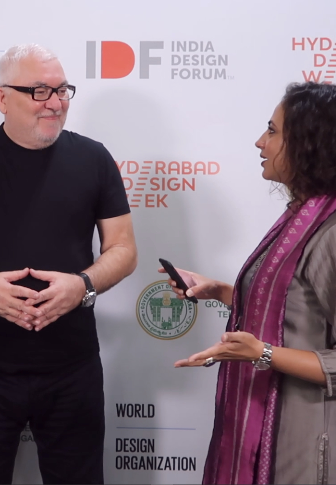 Amit Gupta (founder, curator, content director | STIR) and Mrinalini Ghadiok (editor | STIR) in conversation with Tim Kobe (founder and CEO, Eight Inc.) during the Hyderabad Design Week | STIRworld