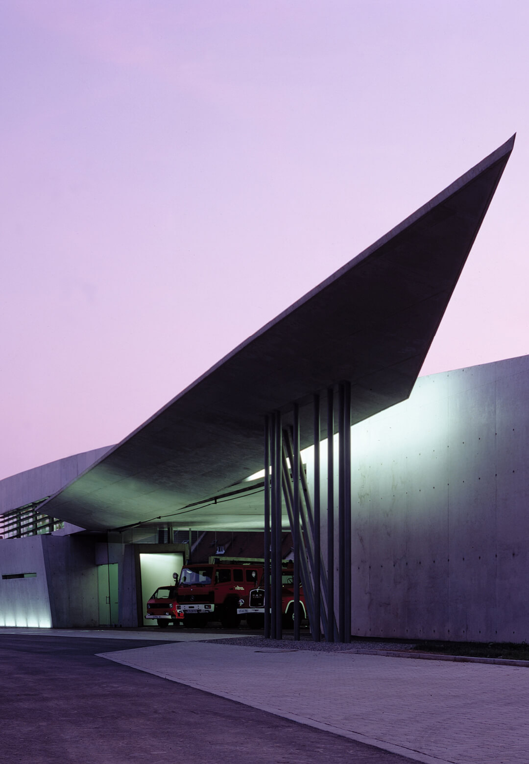 The Vitra Fire Station now serves as an exhibition space| | Vitra Fire Station | Zaha Hadid Architects | STIRworld