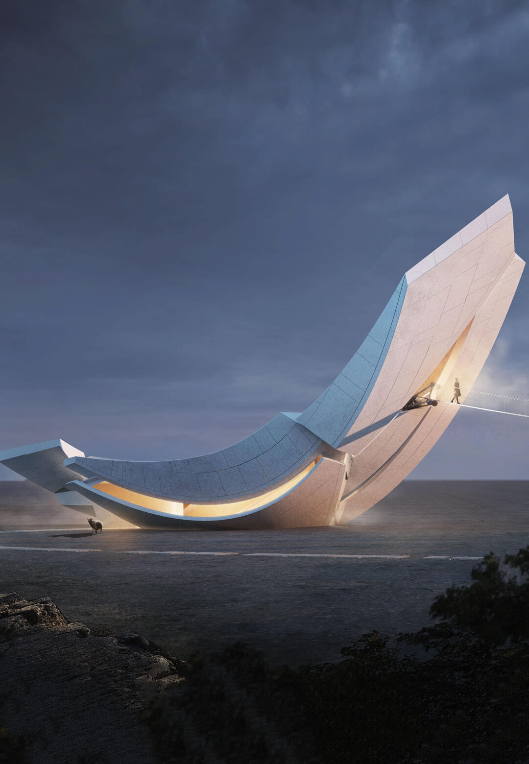 Chinese studio 00Group envisions the Anchor of the Plates, an observation tower in Iceland | Anchor of the Plates by 00Group | STIRworld