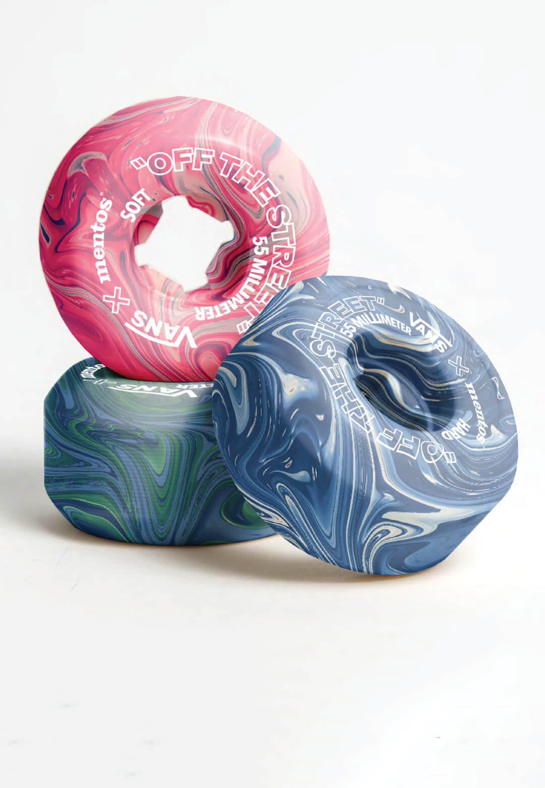 Hugo Maupetit and Vivian Fischer from L'Ecole de design Nantes Atlantique have devised a method to recycle discarded chewing gum into skateboard wheels | Vans x Mentos by Hugo Maupetit and Vivian Fischer | STIRworld